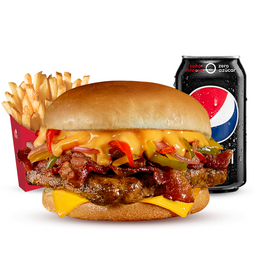 COMBO PHILLY BACON CHEESEBURGER SIMPLE